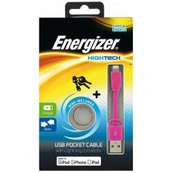 Câble de Poche USB Plat Lightning Charge / Data / Rose