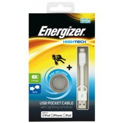 Câble de Poche USB Plat Lightning Charge / Data / Blanc