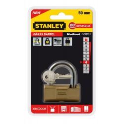 Cadenas à clé en laiton à barillet Or Stanley / 50mm