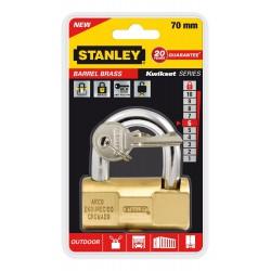 Cadenas à clé en laiton à barillet Or Stanley / 70mm