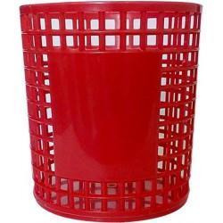 Porte Stylo Cylindre en plastique / Rouge