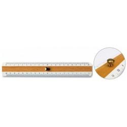 Règle double décimètre en bois ARDA 20 cm