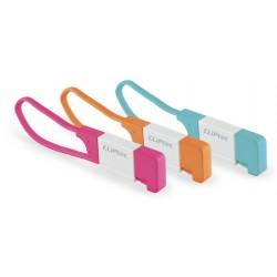 Câble plat CLiPtec LOCK USB vers Micro-USB pour Smartphone / Rose