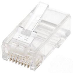 Lot de 100 connecteurs modulaires RJ-45 Cat6 UTP
