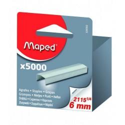 Boite de 5000 Agrafes Maped Nº 2115 1/4 galvanisé