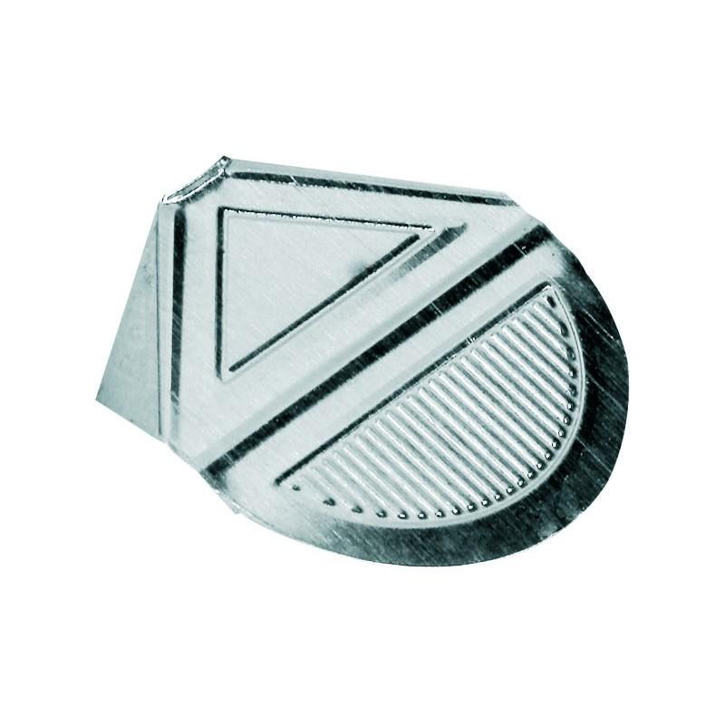 50x Coins lettre aluminium Maped 25 mm