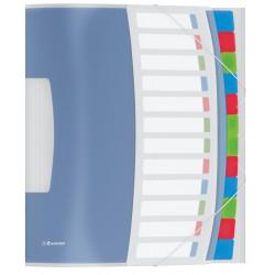 Trieur Esselte Vivida translucide 12 onglets couleurs / Blanc