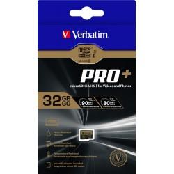 Carte Mémoire Micro SDHC Verbatim Pro+ U3 32GB Avec Adaptateur