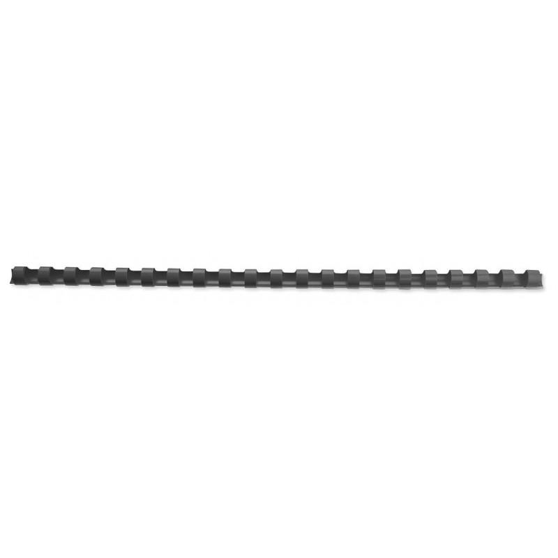 10 Reliures Spirale Plastique 8mm Noir