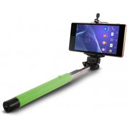 Perche télescopique selfie Ksix Bluetooth / Vert