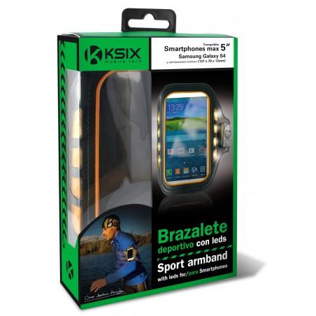 Brassard de sport avec LEDs Ksix pour Smartphone