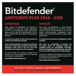 AntiVirus Plus Bitdifender 2016 OEM - 1 an / 1 Pc