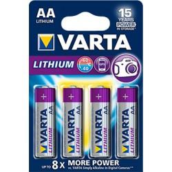 4x Piles Varta Professional Lithium AA 1.5 V