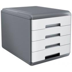 Bloc de 4 Tiroirs ARDA My Desk / Gris & Blanc