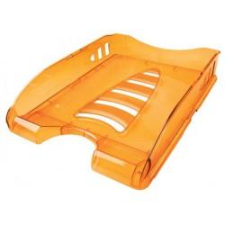 Corbeille à courrier ARDA SUNRISE A4 / Orange transparent
