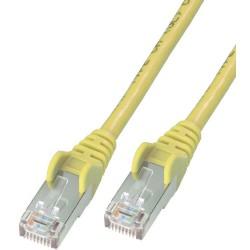 Câble RJ45 Cat6 UTP 0.5M Jaune