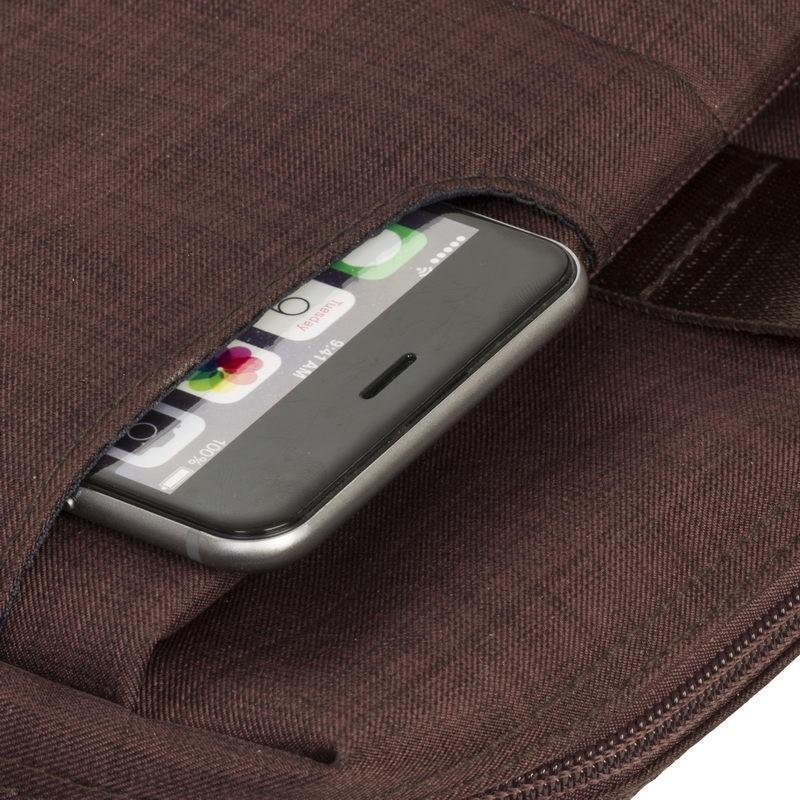 """Sacoche pour PC Portable Rivacase 15.6"""" Marron"""