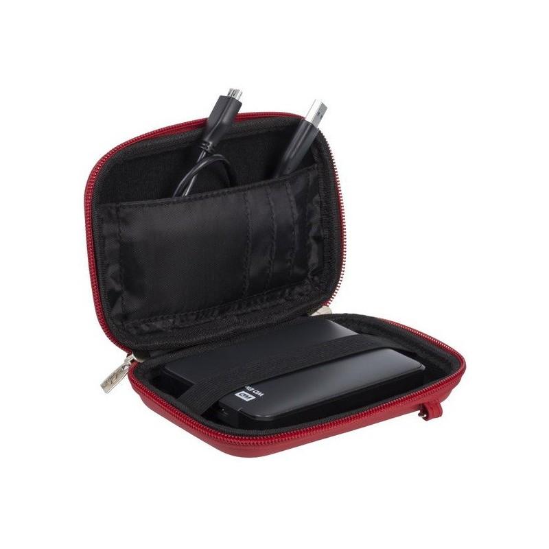 """Etui Rivacase pour disque dur 2,5"""" externe portable / Rouge"""
