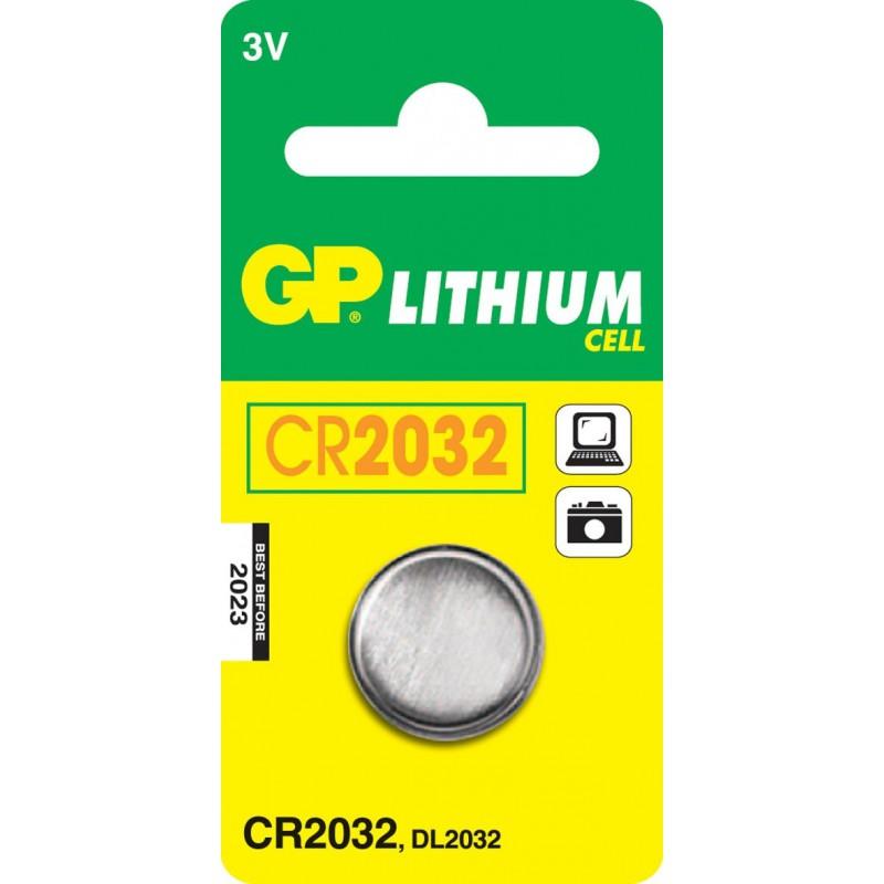 Pile Bouton GP Lithium 3V CR2032