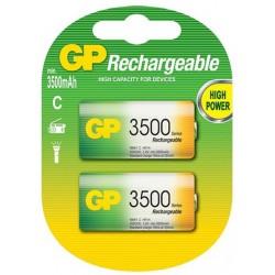 2x Piles GP Rechargeable NiMH C 3500 Series 3500 mAh