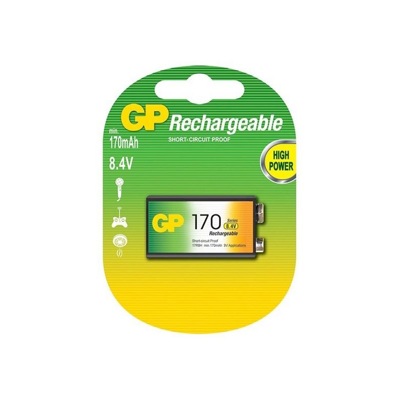 Pile GP Rechargeable NiMH 9V 170 Series 170 mAh
