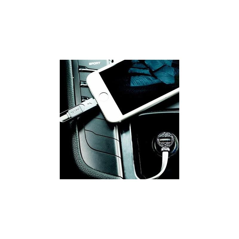 Chargeur Allume Cigare avec Cable 2en1 Remax Finchy RCC103 / Gold