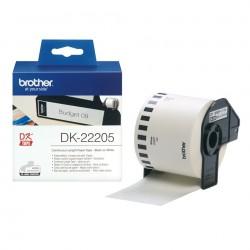 Rouleau de papier continu Brother DK-22205 Original / Noir sur Blanc