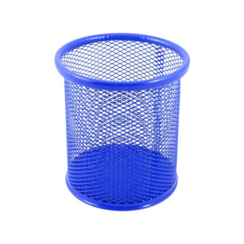 Porte Stylo Cylindre en métal / Bleu