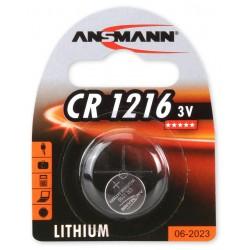Pile Bouton Ansmann Lithium CR1216 / 3V 24mAh
