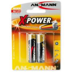 2x Piles Ansmann X-Power Alcaline Mignon AA / LR6 / 1.5V