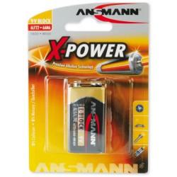 Pile Ansmann X-Power Alcaline 9V-Block E 9V