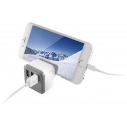 Chargeur mural Ksix 3 USB 3.4A avec Support et SmartCharge