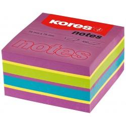 Papier-notes auto-adhésif Kores 75x75 mm / 4 couleurs
