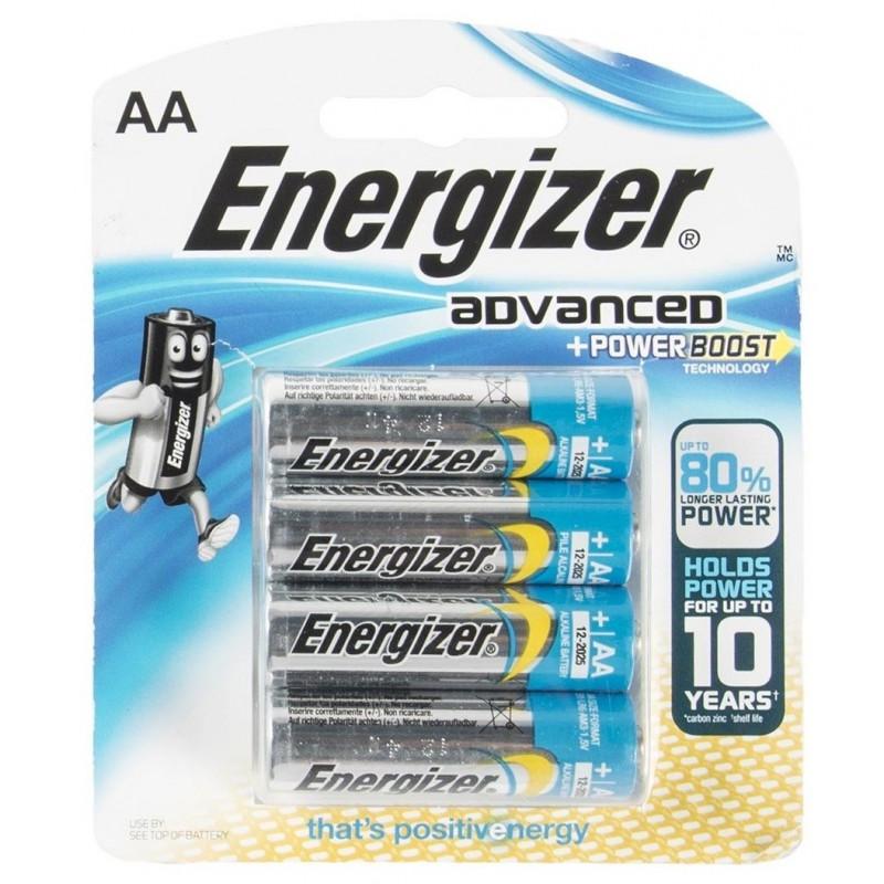 4x Piles Energizer Advanced + Powerboost AA