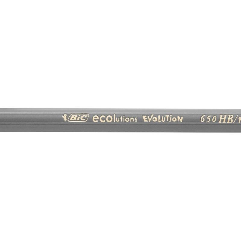 12x Crayons Graphite HB BIC Evolution Ecolutions / Noir