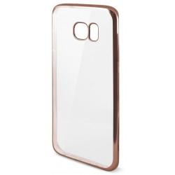 Etui en Silicone KSix Metal Flex pour Samsung Galaxy S7 Edge / Rose