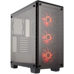 Boitier Gamer Corsair Crystal 460X Avec fenêtre et LED RGB