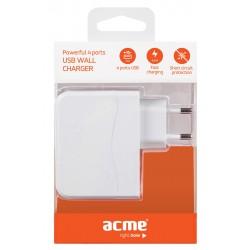 Chargeur Powerful 4 ports USB ACME CH16 / Blanc