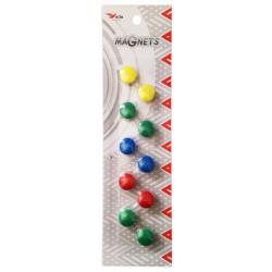 10x Boutons de fixation magnétiques 15 mm