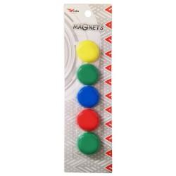 5x Boutons de fixation magnétiques 30 mm