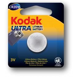 Pile Bouton Kodak Ultra CR2016 Lithium 3V