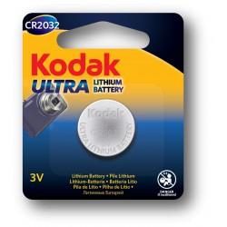Pile Bouton Kodak Ultra CR2032 Lithium 3V