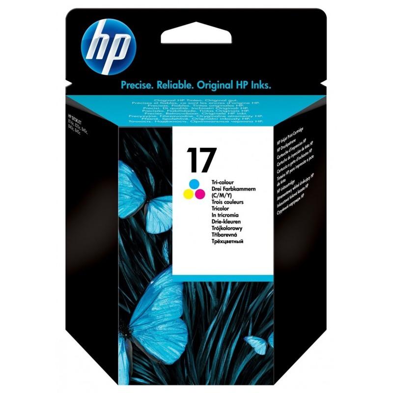 Cartouche d'encre trois couleurs authentique HP 17