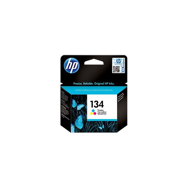 Cartouche d'encre trois couleurs authentique HP 134