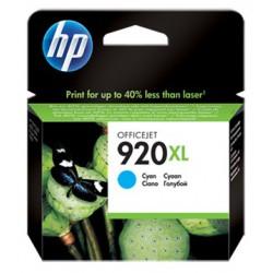Cartouche d'encre Originale haute capacité HP 920XL / Cyan