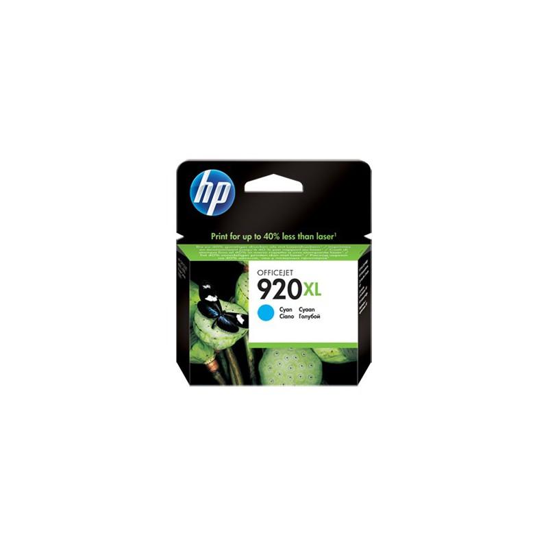 Cartouche d'encre authentique haute capacité HP 920XL / Cyan