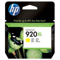 Cartouche d'encre authentique haute capacité HP 920XL / Jaune