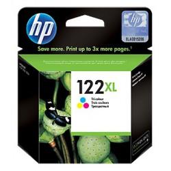 Cartouche d'encre authentique haute capacité trois couleurs HP 122XL