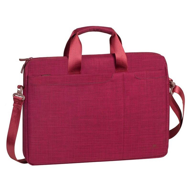 sacoche pour pc portable rivacase 15 6 rouge. Black Bedroom Furniture Sets. Home Design Ideas