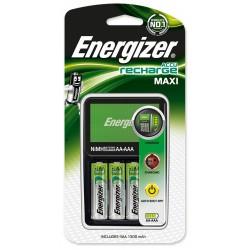 Chargeur Energizer Maxi + 4 piles AA 1300 mAh